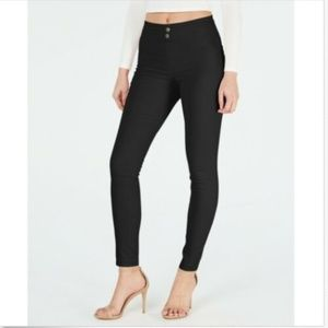 Hue Original Smoothing Black Denim Leggings XXXL